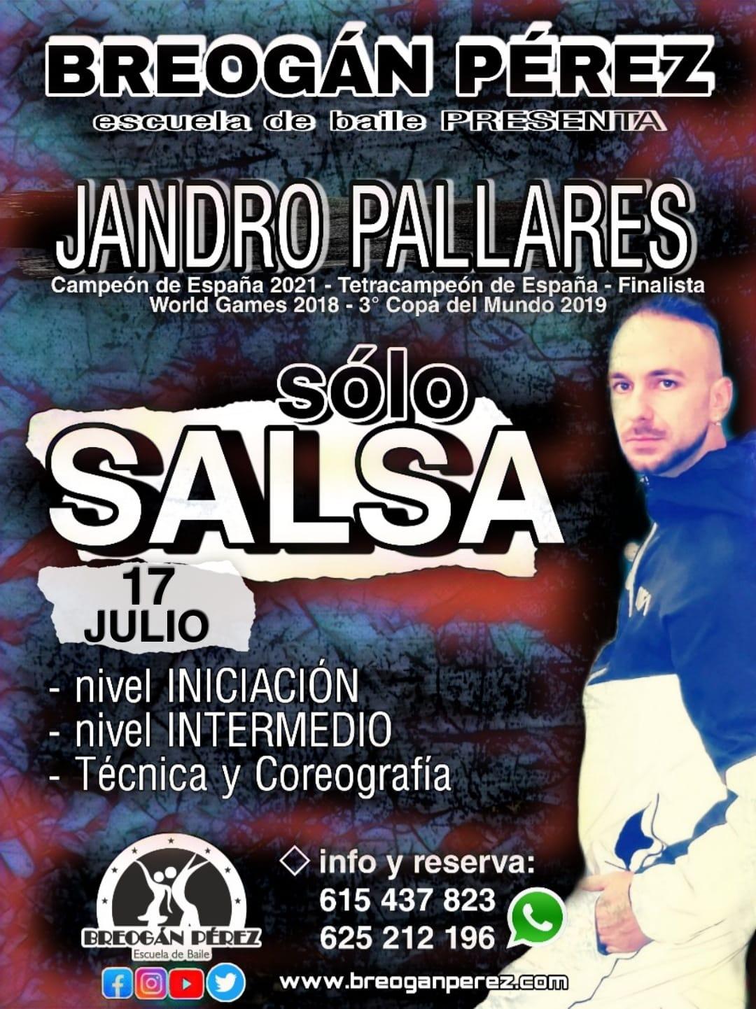 JANDRO PALLARES. TALLER DE SALSA